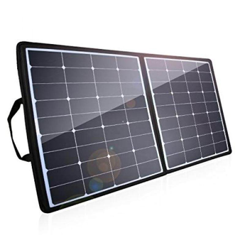 Poweradd 100W Solar Charger, 18V 12V SUNPOWER Solar Panel Water/Shock/Dust Resistant Foldable Panel for Laptop, Macbook, iPhone, Samsung, Generator, ChargerCenter, UPS and More - intl