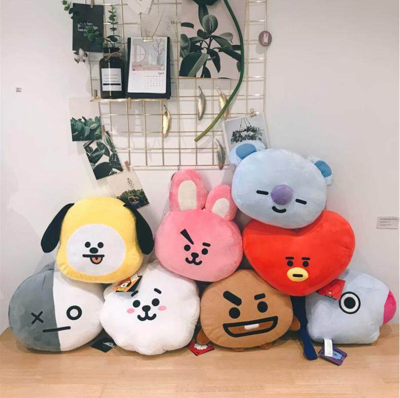 New Kpop Bangtan Boys Bts Bt21 Vapp Same Pillow Plush Cushion Warm Bolster Q Back Soft Stuffed Doll 25 Cm Tata Cooky Chimmy Strong Resistance To Heat And Hard Wearing Novelty & Special Use