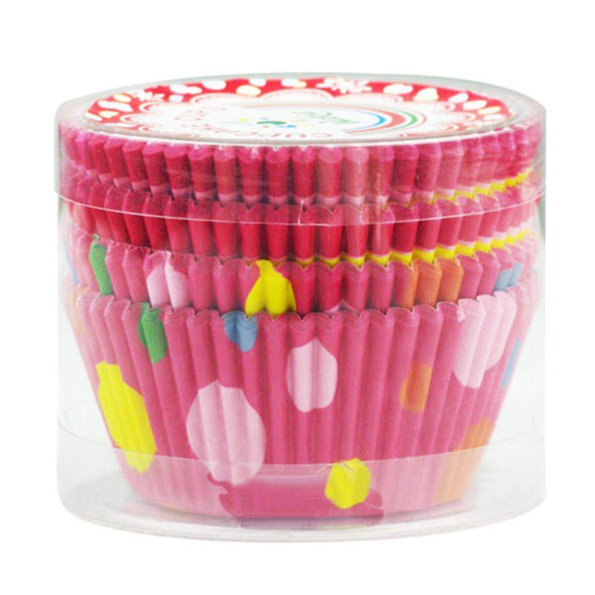 100pcs Colorful Circle Dot Chocolate Mold Cake Oiled Paper Cups By Glimmer.