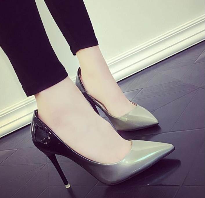Gaya Korea Baru Hak dengan Model Runcing Hak Tinggi Perempuan Sepatu Pompa Sepatu - 5