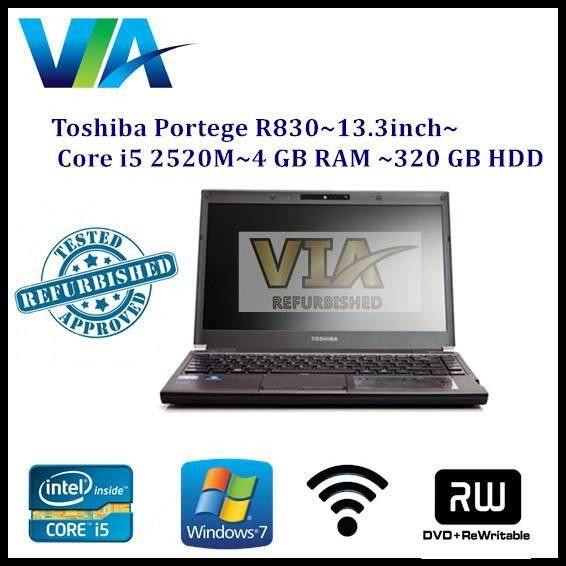 Refurb Toshiba Portege R830 - 13.3 - Core i5 2520M - 4 GB RAM - 320 GB HDD Malaysia