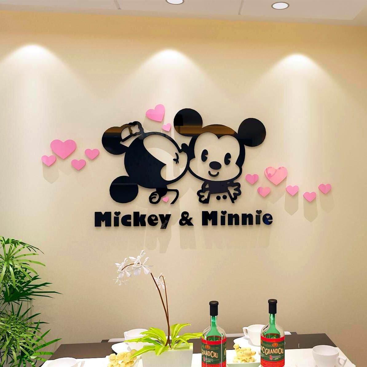 3D Pink Mickey & Minnie Wall Decoration(180 x 80cm)