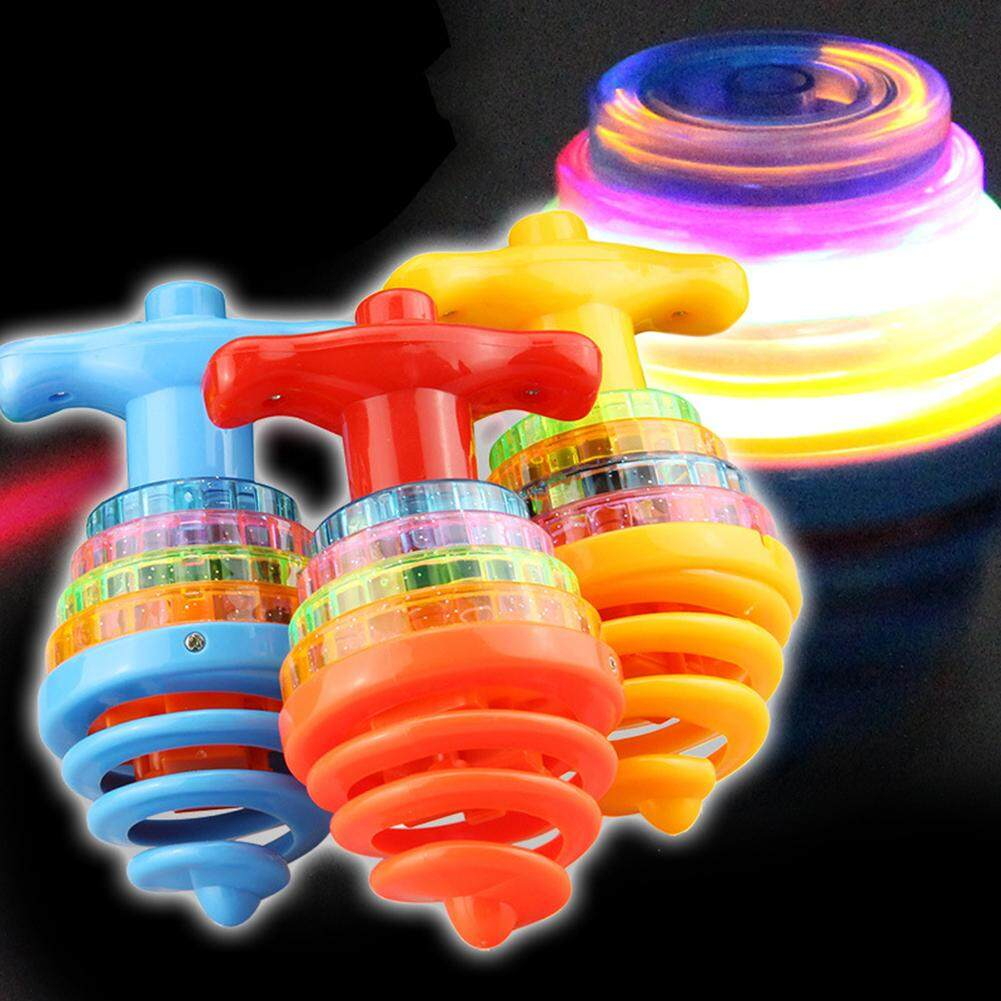 Dfzx Trade Flashing Rotating Spinning Toy With Led Light And Music Dazzling Gyro Peg-Top Toys Gift Random Color By Dfzx Trade.