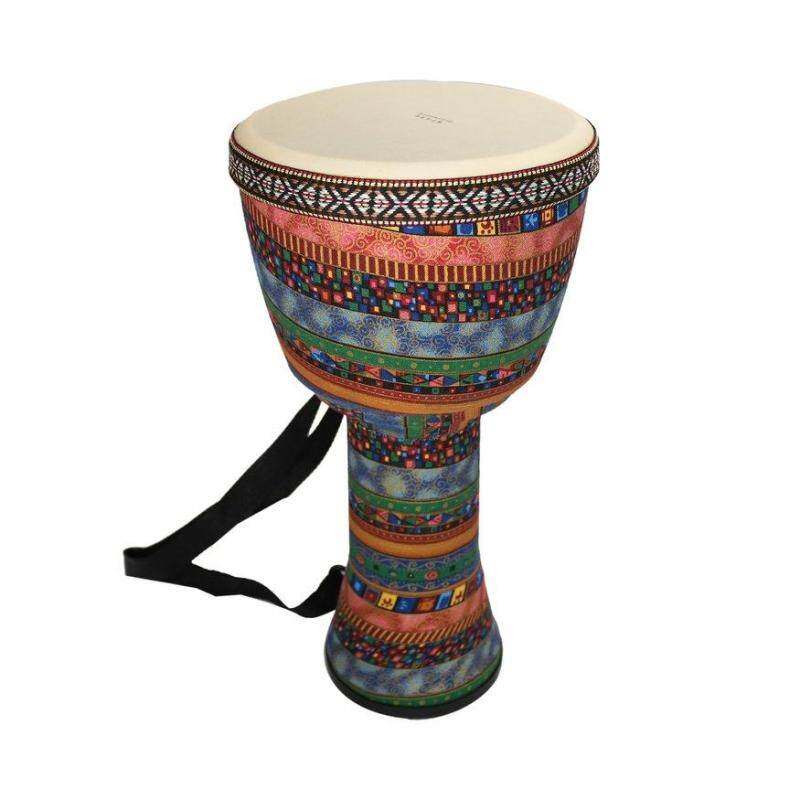 UINN Orff World 8 inch Djembe Percussion Musical Instrument African Style Hand Drum Multicolor