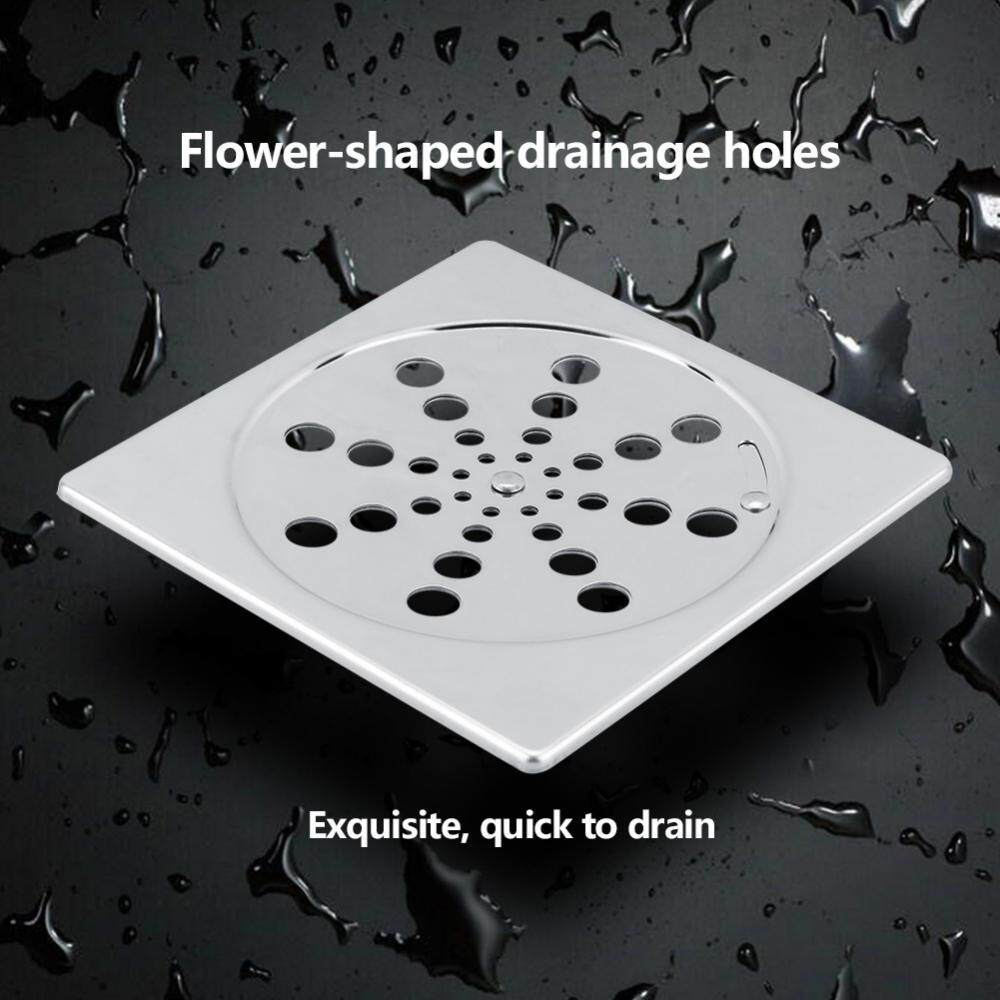 304 Stainless Steel Heavy Duty Rotatable Floor Waste Drain For Home Bathroom Shower Balcony - Intl By Highfly.