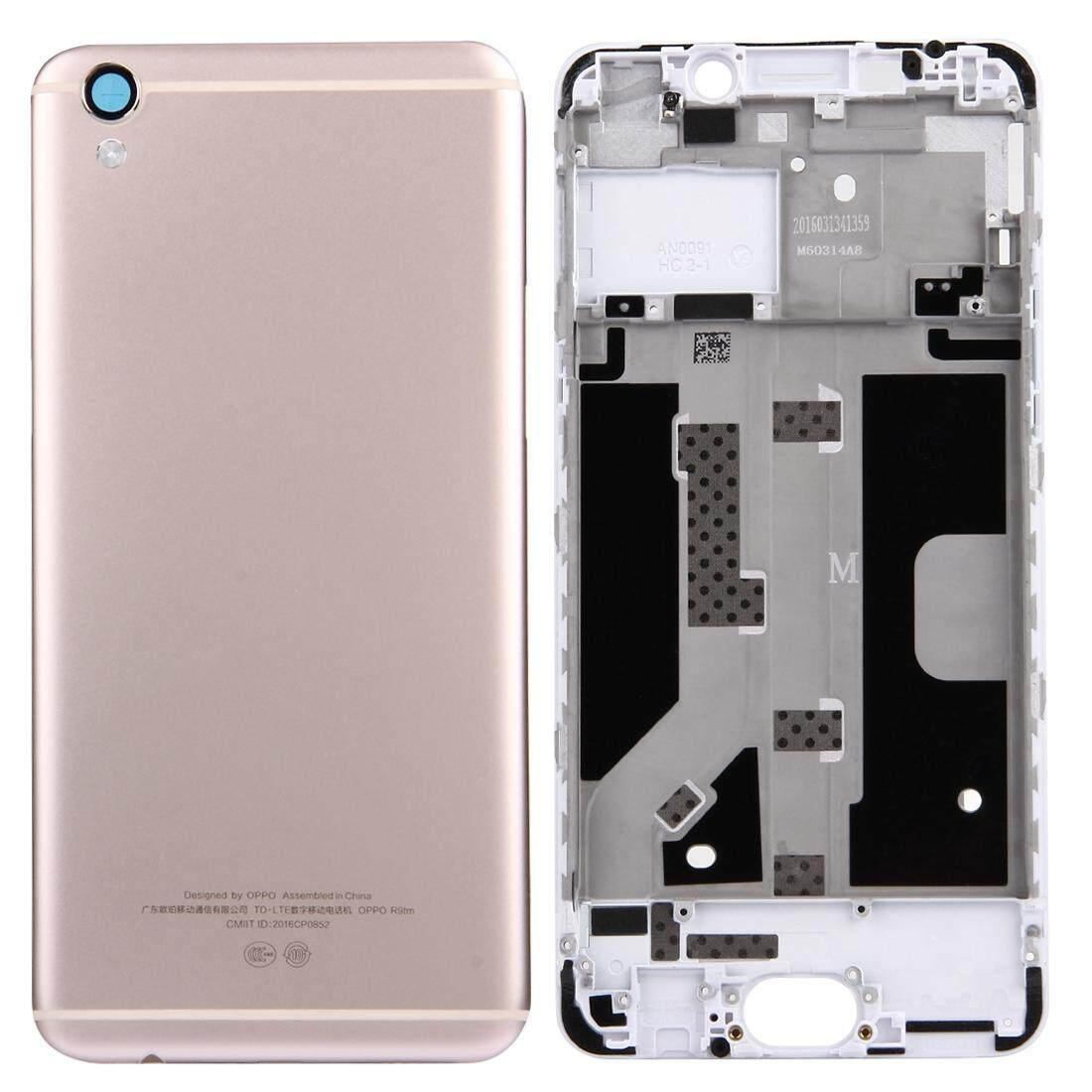 OPPO R9/F1 Plus Penutup Belakang + Hunian Depan LCD Bingkai Pelat Bezel (Emas)