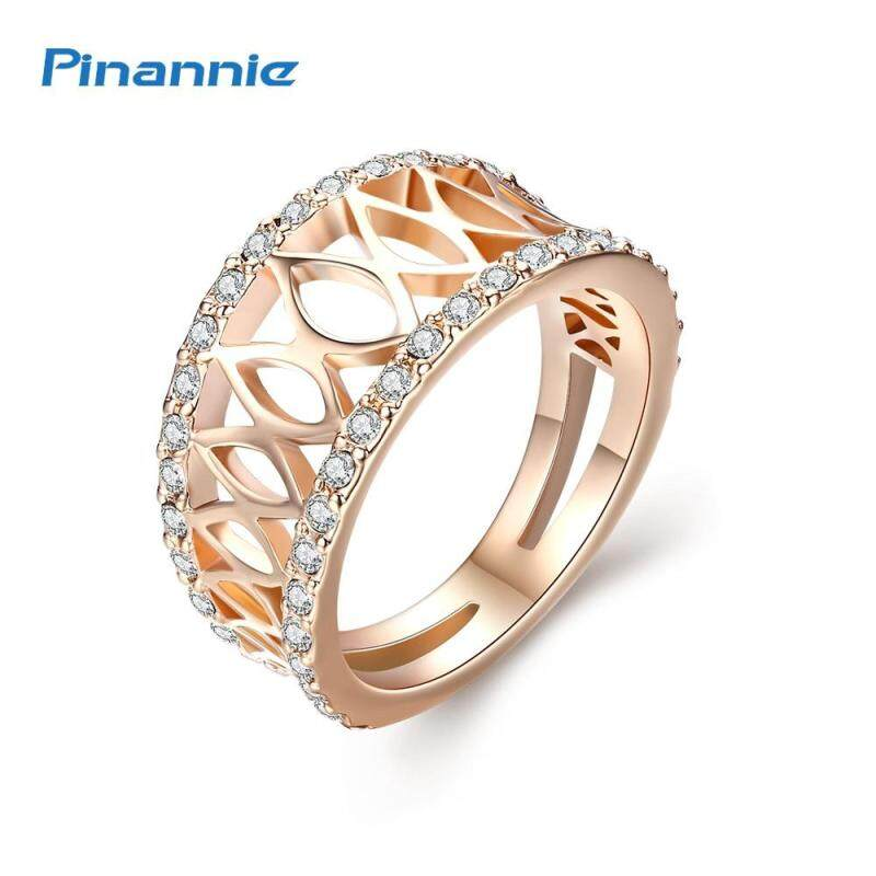 Pinannie Gold Color 18KRGP Engagement Rings Jewellery for Women