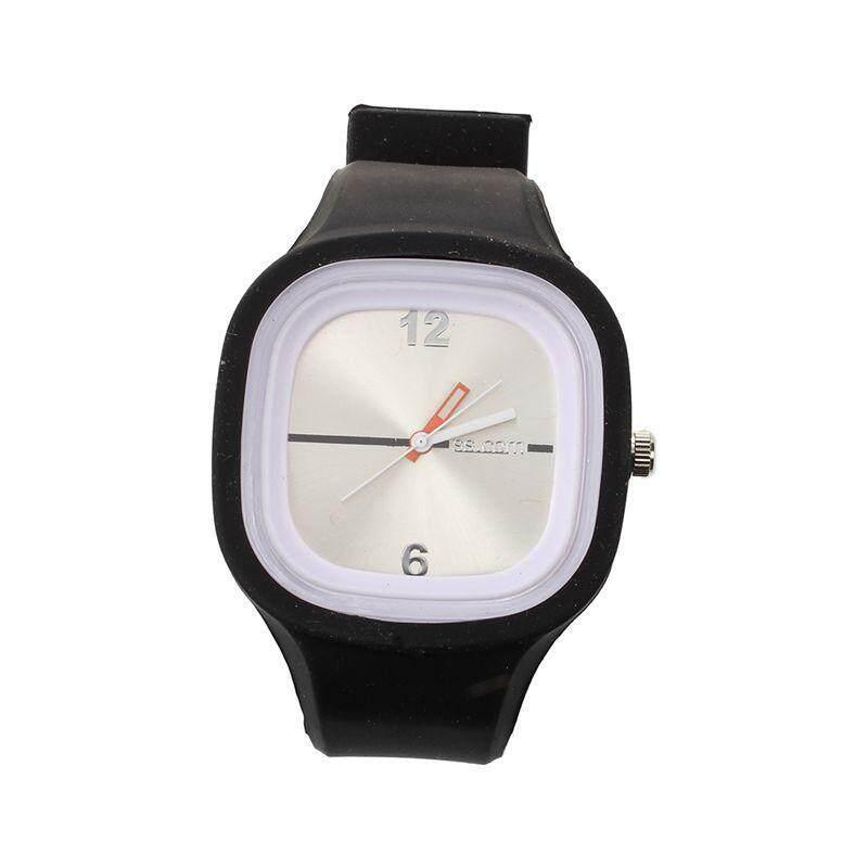 Oversized Black Jelly Candy Sports Quartz RUBBER Wrist Watch UNISEX Men WOMAN Malaysia