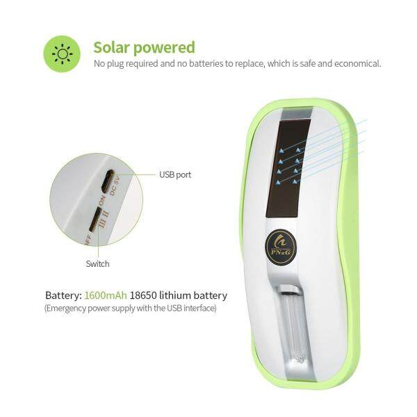 PNzG Solar Power Toilet Sterilizer the Toilet Bowl Sterilizer UV Toilet Sterilizer Rechargeable Toilet Sanitizer Tool with UV Light - intl