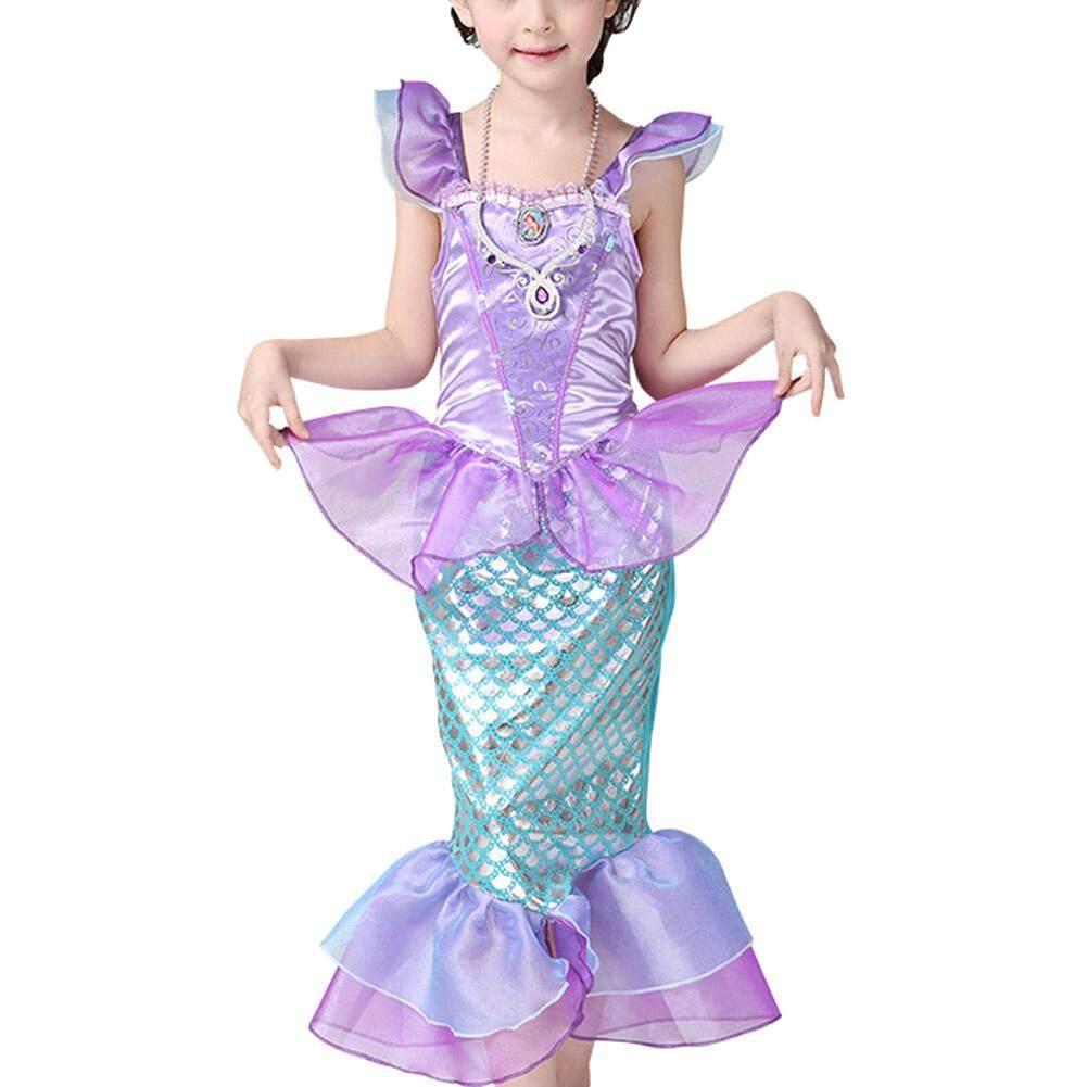 Girls Kids Little Mermaid Princess Party Dress Costume By Sawu.