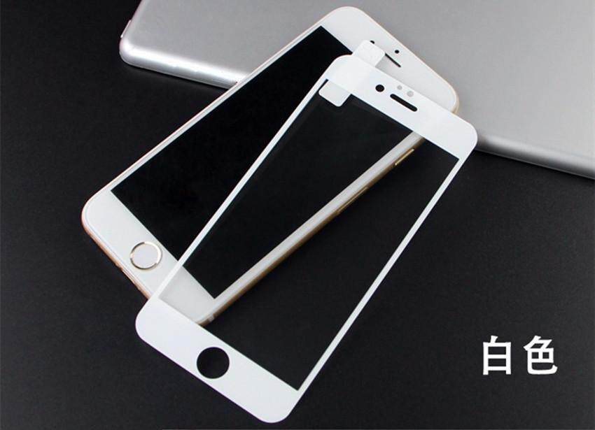 new product ad000 151f8 Apple iPhone 6 Plus 6S Plus 3D Full Coverage Tempered Glass Screen  Protector (WHITE)