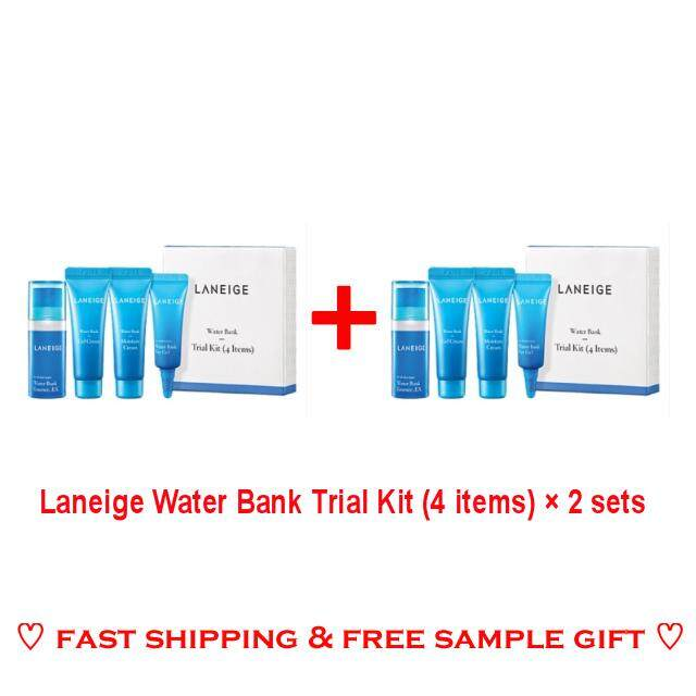 Laneige Water Bank Trial Kit (4 items) x 2 sets