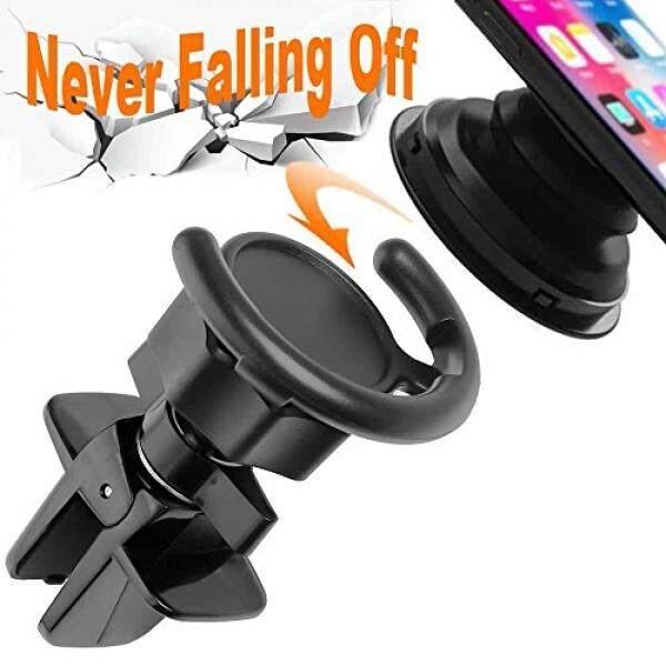 Air Vent Clip Car Mount Cell Phone Holder for Pop Socket Popsocket Users with Twist Lock Settings for IPhone X 8 8 Plus 7 7 Plus 6s 6 Plus 6 5s 5 4s 4 Samsung Galaxy S9 S8 Edge S7 S6 S5 S4 Pixel 2 LG - intl