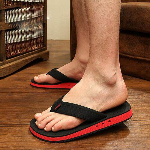 Promo Men Casual Cool Flip Flops Beach Slipper Intl