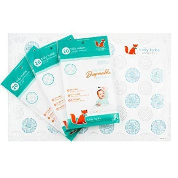 EXTRA STICKY Disposable Placemats Baby - Perfected Design! Ultimate Mom Hack - Tidy Tyke - Table Mat Stays in Place! BPA Free Plastic, Stick on Placemat - Keeps Toddlers Neat & Safe at Restaurants! - intl
