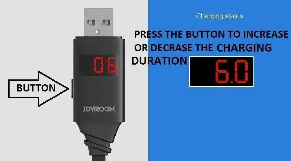 Cable & Converter Source · Joyroom JR ZS200 1M Lighting Data Cable Set Timer For Charge your phone