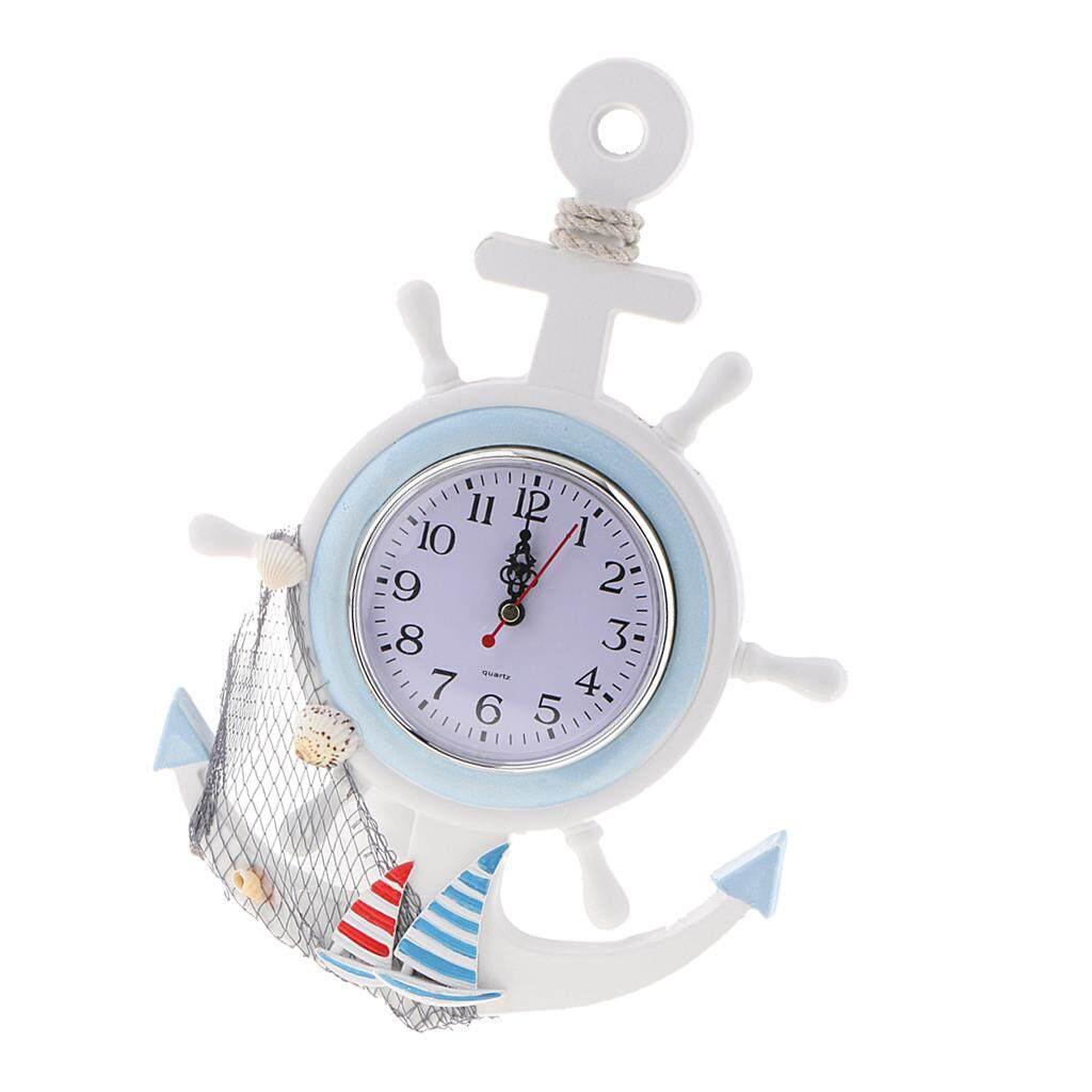 BolehDeals Outdoor Indoor Garden Wall Clock 13inch Nautical Home Time Hanging Craft Xmas Gift Kids Room Decor