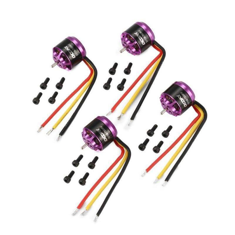 BELLE OCDAY 4pcs 1106 7500KV 3-4S Brushless Motors for RC Mini FPV Racing D*rone Purple