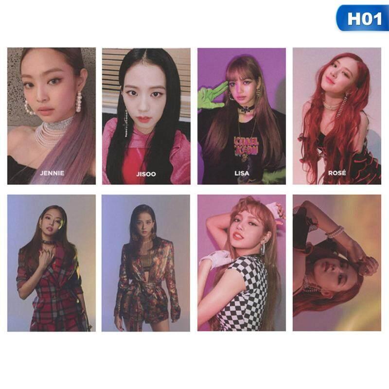 Bzy 8 Pcs/set Kpop Blackpink Album Square Up Buatan Sendiri Kertas Kartu Lomo HD