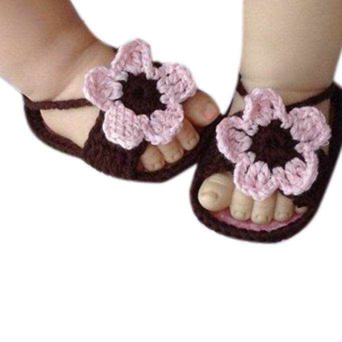 Radocie Sederhana Baru Lahir Bayi Cantik Renda Renda Crochet Sandal Tali Sepatu Kopi By Radocie.