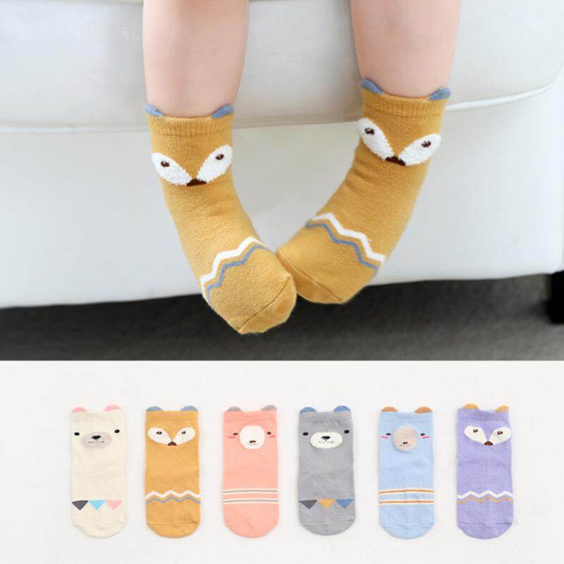 45489952c8b 6 Pairs Newly baby socks cartoon lovely animal children s anti sliding socks  newborn cotton boys girl s