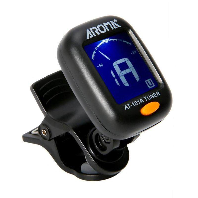 Teepao Clip On Guitar Tuner - Chromatic Tuner For All Instruments, Ukulele, Guitar, Bass, Mandolin, Violin, Banjo, Large Clear LCD Display Malaysia