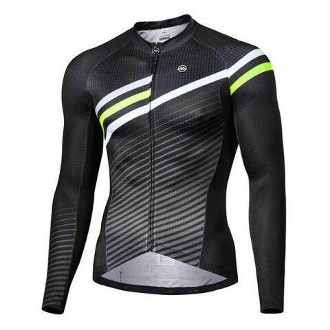 MONTON  MENS LONG SLEEVE CYCLING TOP URBAN FLYBY BLACK