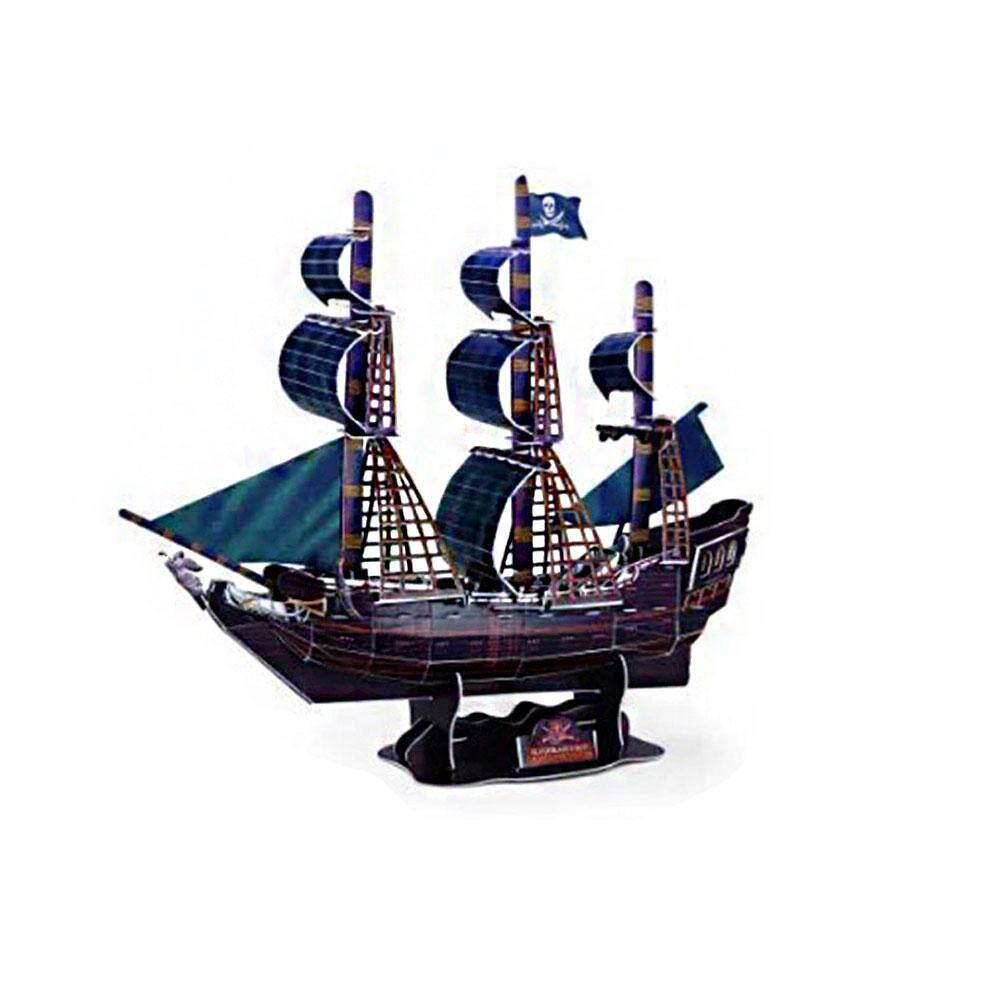 Hình ảnh Vishine Mall free shipping Model Of Pirate Ship Picture Puzzle Interesting Paper 104pcs Sea Boat Ship Model