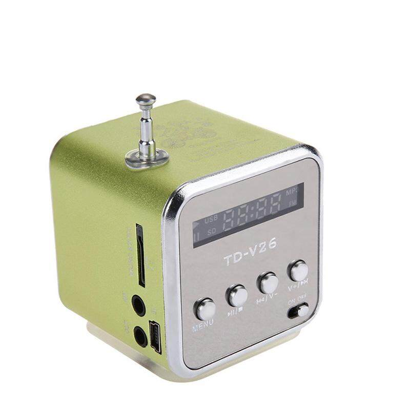 Yuci TD-V26 Mini Pembicara Portabel Digital LCD Suara Mikro Sd/TF FM Radio