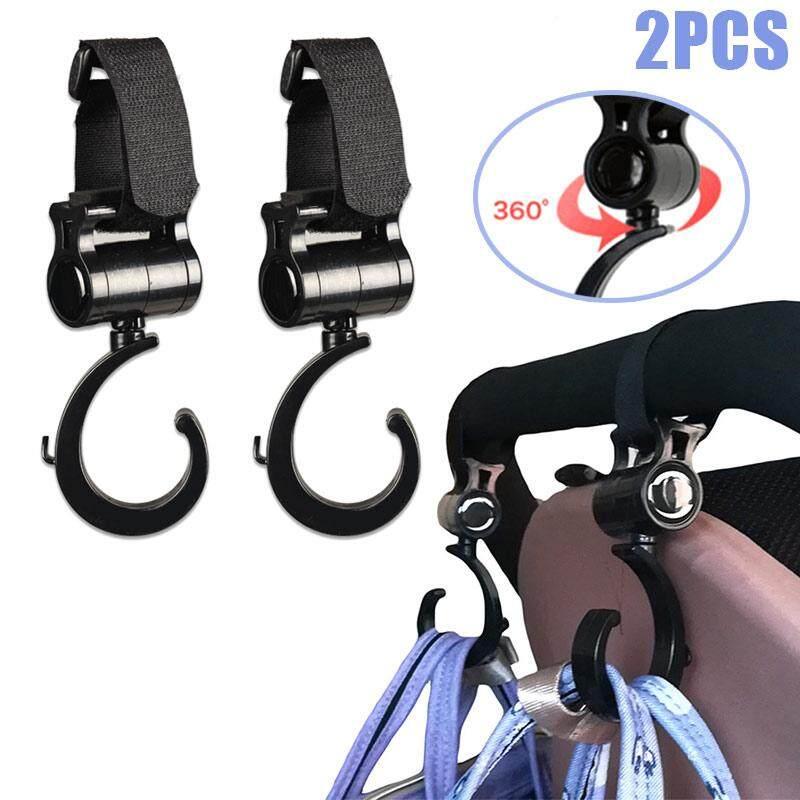 2 Pcs Baby Stroller Accessories Hooks Multifunction Baby Stroller Plastic Hook - Intl By Super Babyyy.