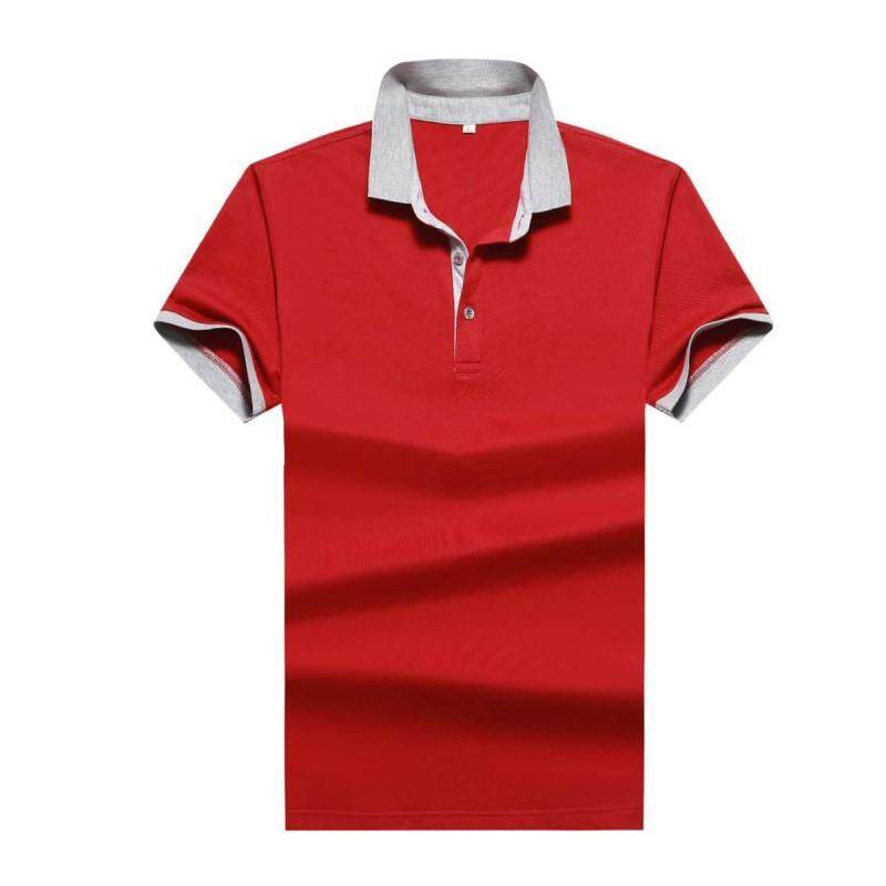 Summer Polo Shirt Men Breathable Business Fashion Casual Mens Jersey Short Sleeve Solid Cotton Polo Shirts - intl