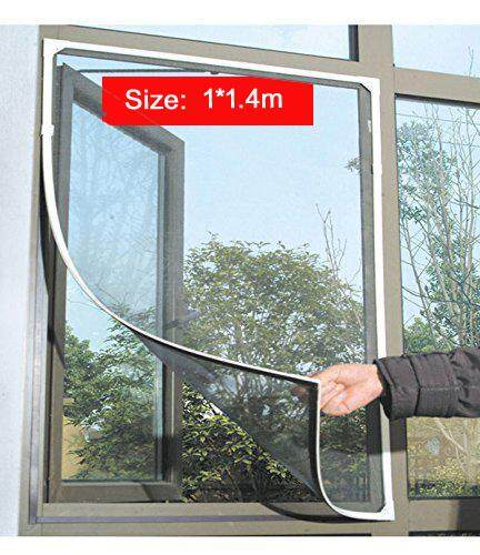 Anti Mosquito Bug Insect Fly Window Screen Mesh Net Curtain Black1*1.4m - intl