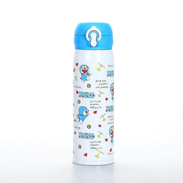 Cartoon Insulate Stainless Steel Vacuum Thermos Flask With Flip Lock
