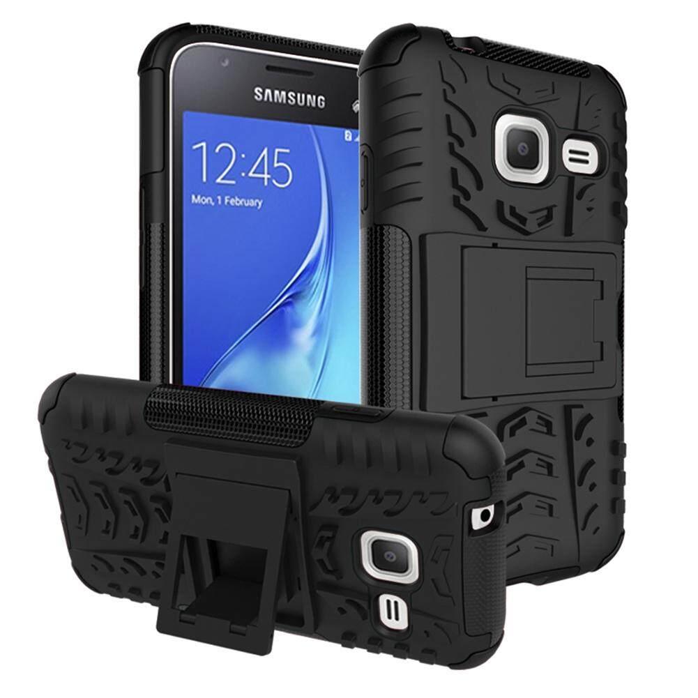 Upaitou Baja Kasus untuk Samsung Galaxy J1 Mini/J1 NXT Sulit TPU Kasar + PC Layar Ganda Protektif Case dengan Kickstand Kembali Tutup untuk Galaksi J1 Mini /J1 NXT Hybrid Potongan Pas Badan Casing Ponsel