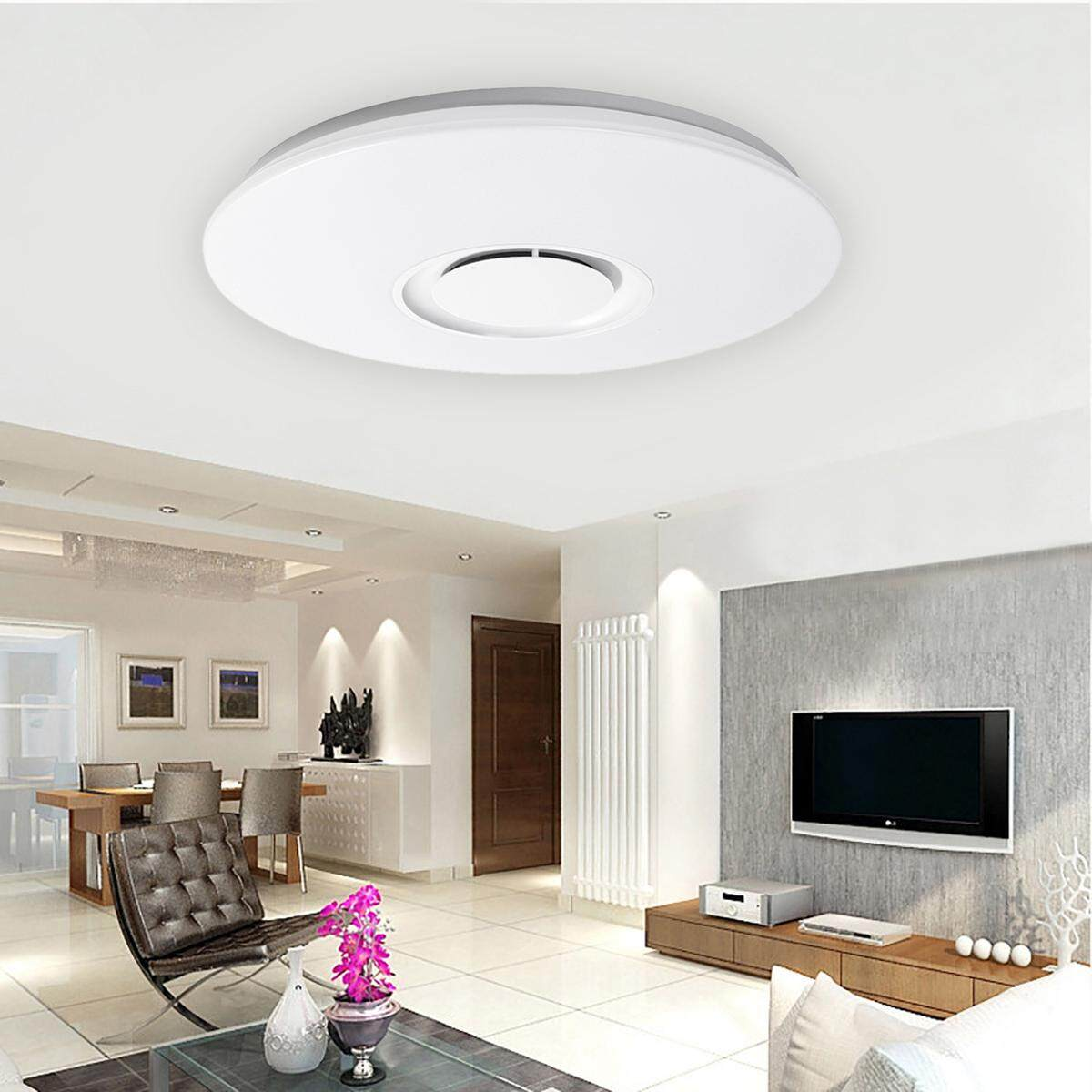 36W Bluetooth Speaker Smart LED Ceiling Light Dimmable Modern Lamp RGB Light Home Decor