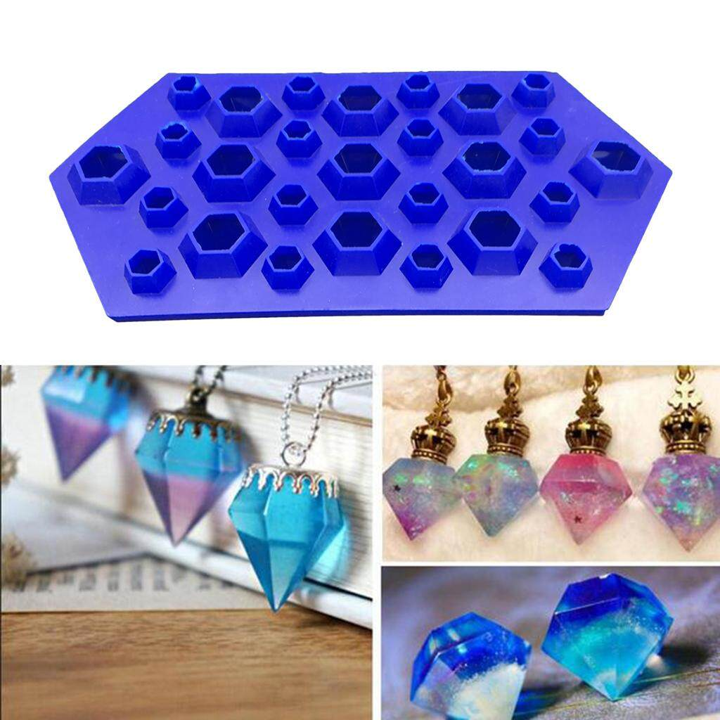 Bolehdeals Diy Crystal Pendants Charms Mold Resin Casting Mould Jewelry Making Tool Mold Ice Tray By Bolehdeals.