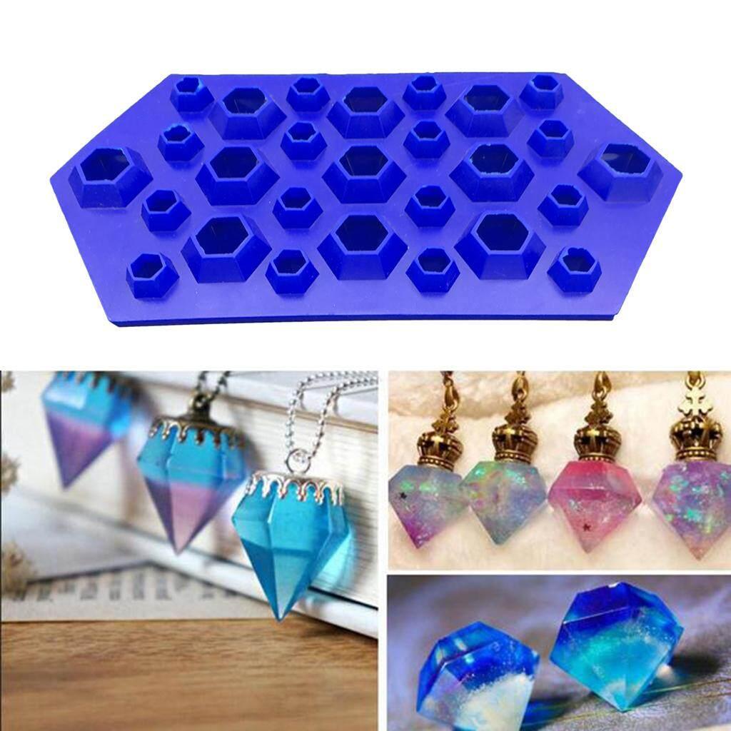 Bolehdeals Diy Crystal Pendants Charms Mold Resin Casting Mould Jewelry Making Tool Mold Ice Tray By Bolehdeals.