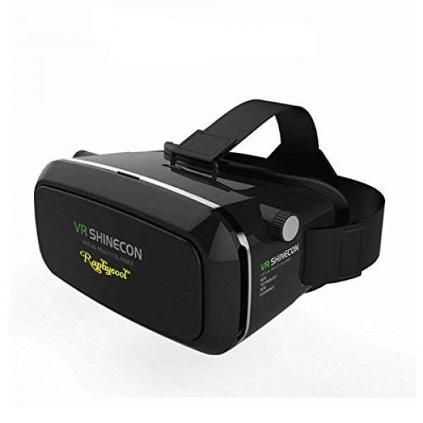 3D VR Realitas Maya Headset untuk Film/Permainan raphycool Kacamata Video Virtual dengan Lensa Yang Bisa Diatur dan Tali untuk iPhone 6 Plus/6 S/6/5/5 S, samsung Galaxy Seri Layar dengan Ukuran 3.5-6 Inch. -Intl