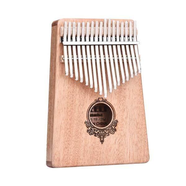 Kalimba Gỗ Gụ Châu Phi 17 Phím, Dụng Cụ Gõ Đàn Piano Bỏ Túi Ngón Tay Cái Có Xe Bán Tải/Không Có Xe Bán Tải