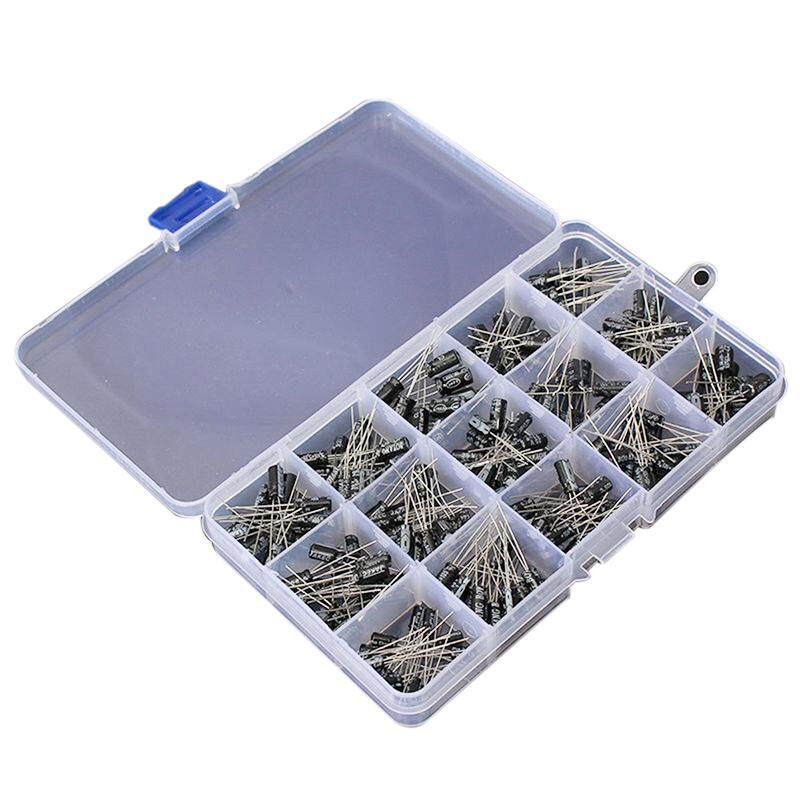 200pcs Durable DIY 15Kind 0.1uF-220uF Electrolytic Capacitor Assortment Kit White