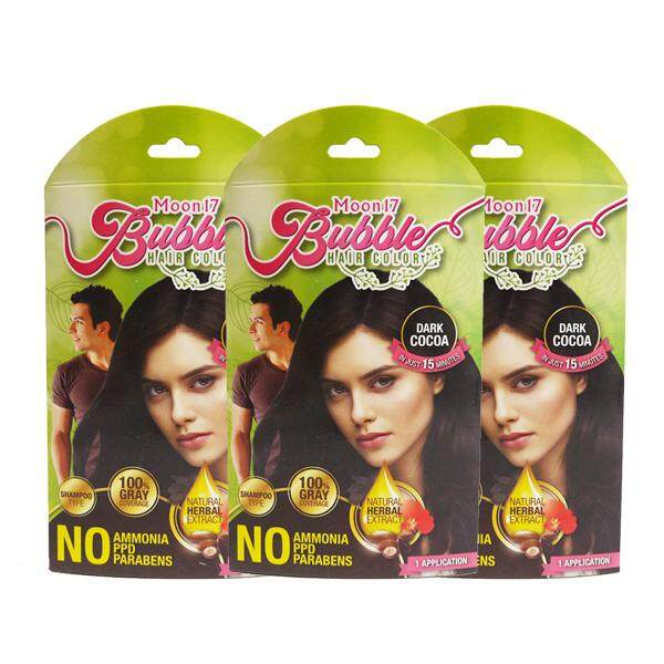 Moon17 Bubble Hair Color (Dark Cocoa) 3 Packs - For Gray Coverage