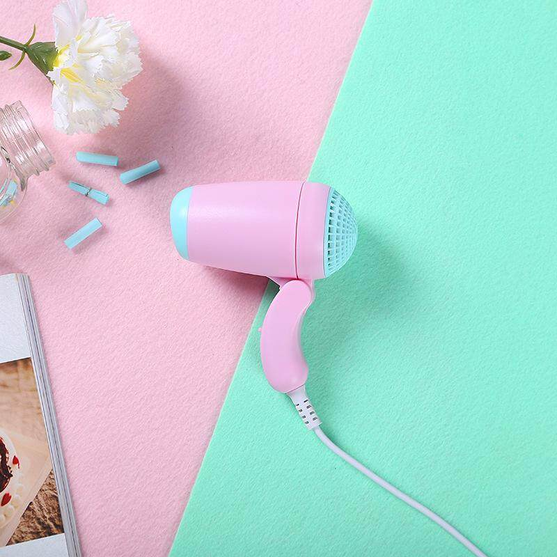 Mini low-power folding hair dryer hair dryer hair dryer student dormitory nine-color small appliances delivery fast and good quality - intl