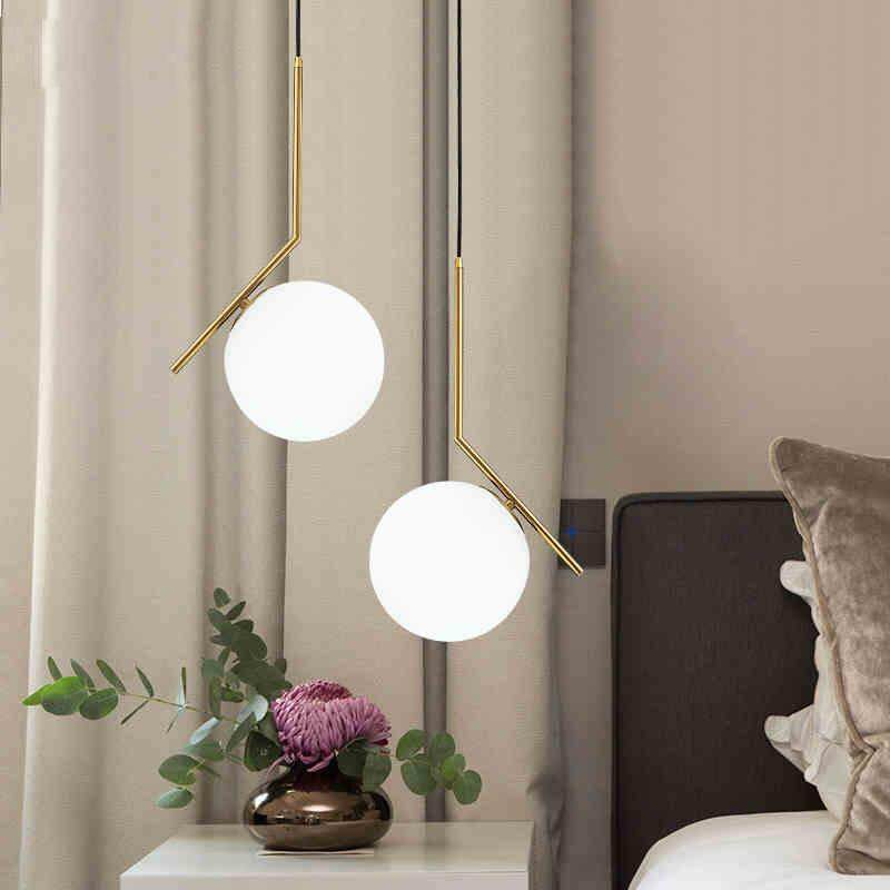 200mm Modern Ceiling Lamp Glass Ball LED Chandelier Pendant Lamp Lighting Fixtures