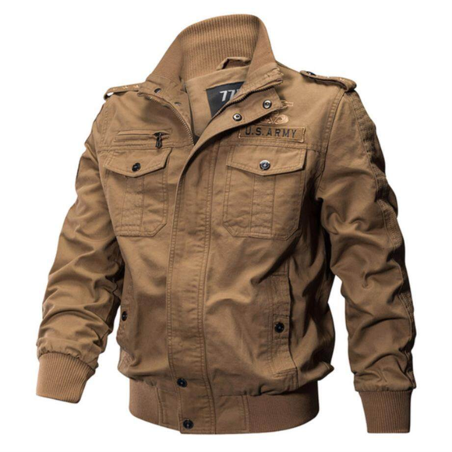 ZZOOI Afs Jeep Brand Jacket Men Winter Military Army Pilot Bomber Jacket Tactical Casual Air Force