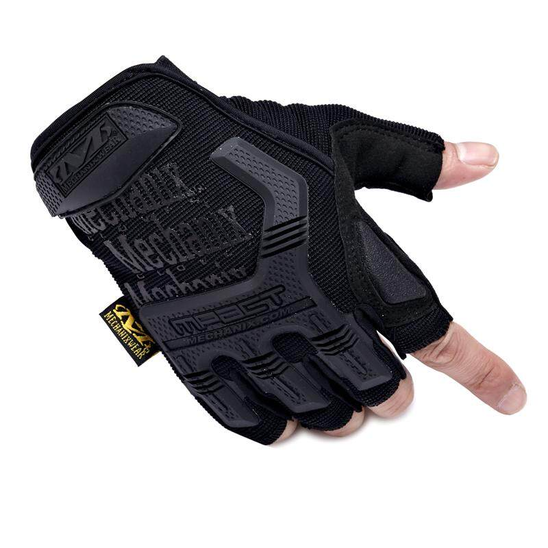 Military Mechanix Tactical Fitness Gloves Sport Motorcycle Half Finger Glove - intl