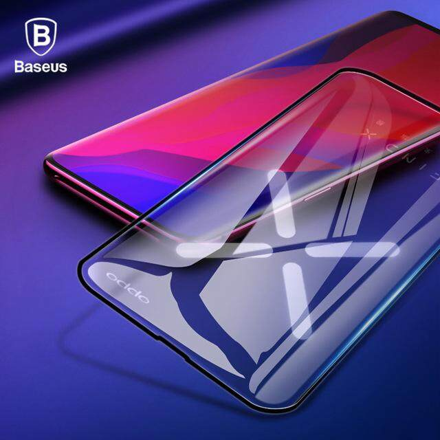 Baseus 0.3MM Screen Protector Tempered Glass For OPPO Find X Curved Edge Full Cover Toughened Protection Glass Film