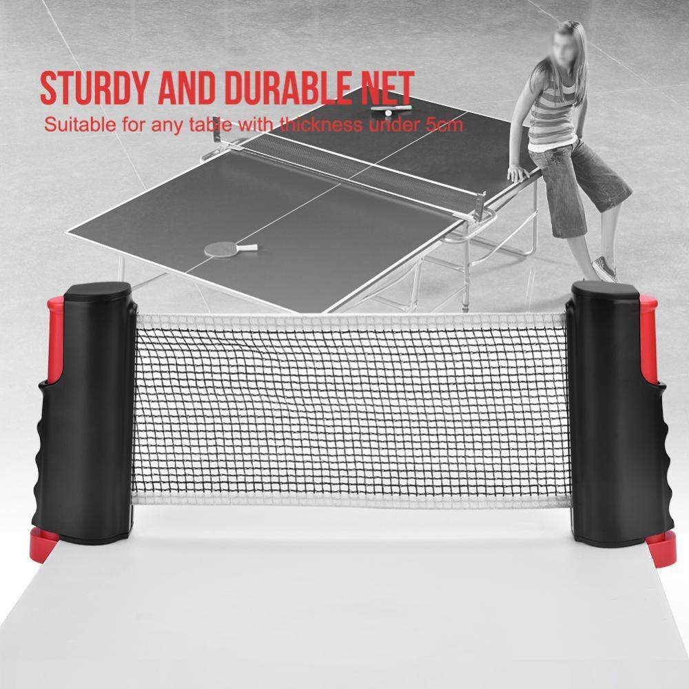 Outdoor Ping Pong Durable Retractable Table Tennis Net Portable Sports Accessory - intl