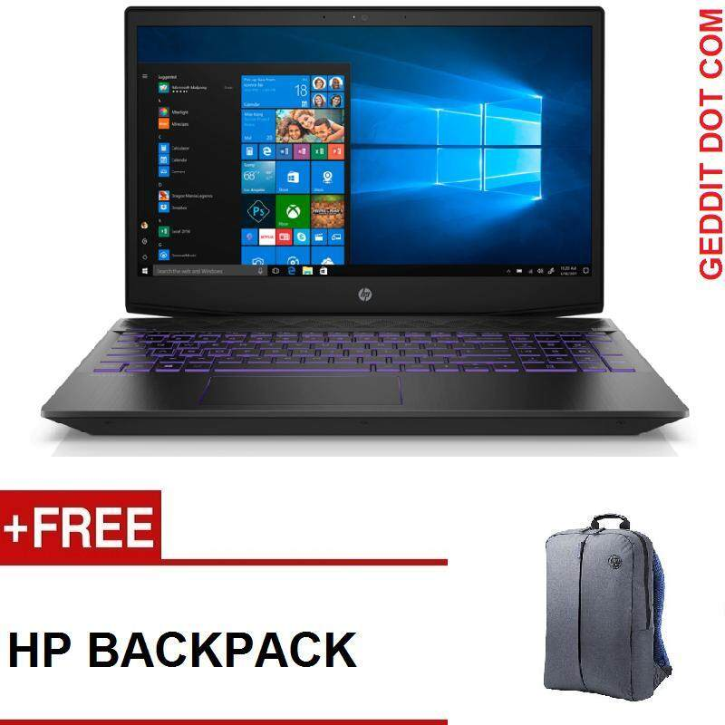 HP PAVILION GAMING 15-CX0153TX (i7-8750H,4GB DDR4,1TB,NO ODD,15.6 FHD,GTX 1050,WIN10,2 YEAR ONSITE) FREE BACKPACK Malaysia