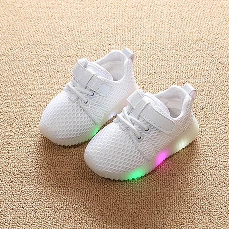 Giá bán Trẻ em Ánh Sáng của Giày Tập Đi Đế Mềm Thoáng Khí Giày Thể Thao Bé Trai và Bé Gái LED Đế Mềm