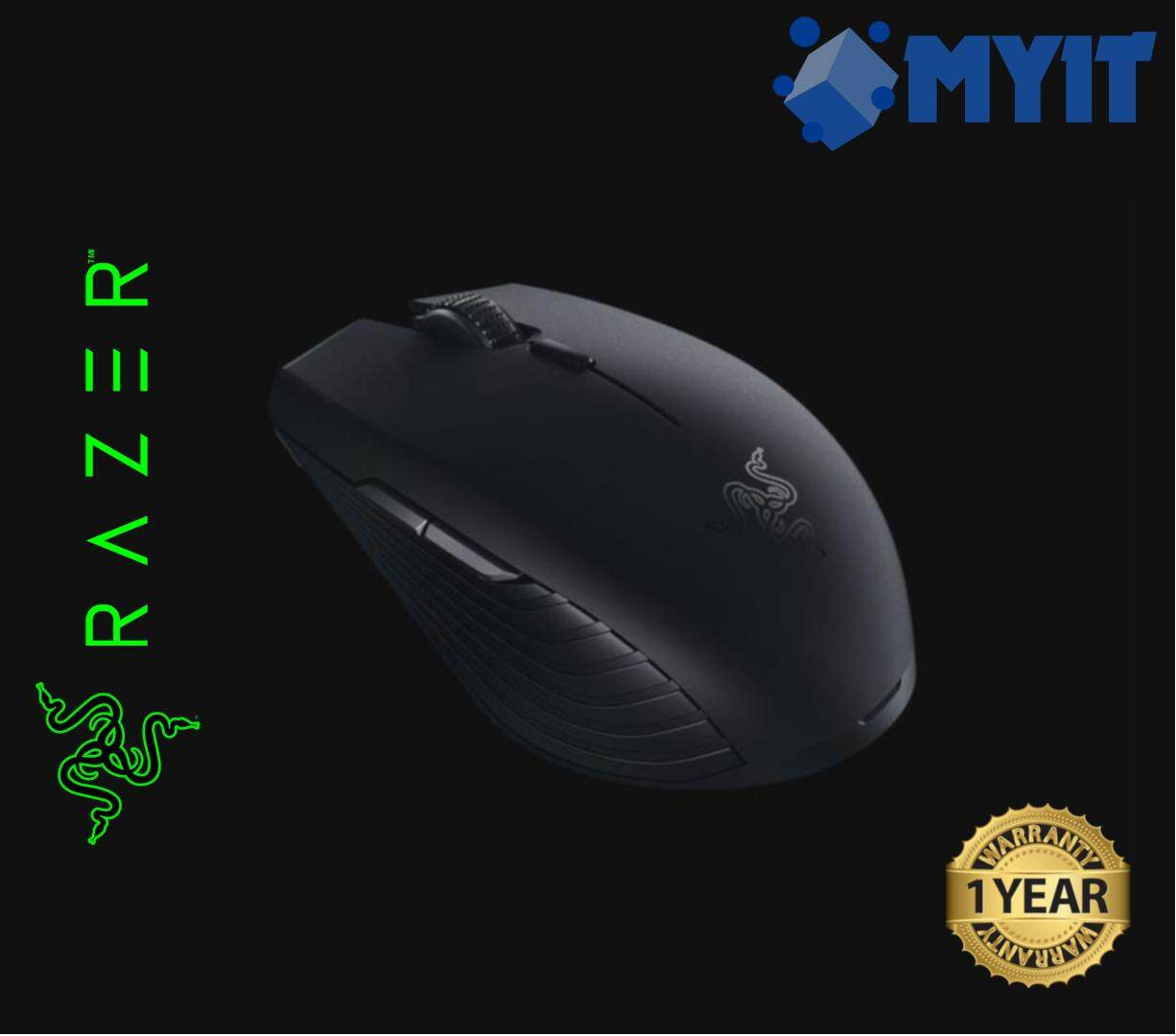 Razer Original Atheris Mobile Compact Wireless Gaming Optical Mouse 7200dpi 220 IPS 30 G Bluetooth / 2.4GHz USB Dongle Receiver Duality (99.7 x 62.8 x 34.1 mm , 2 x AA Battery)